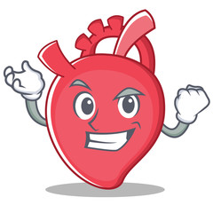 Successful heart character cartoon style
