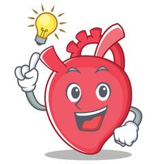 Have an idea heart character cartoon style