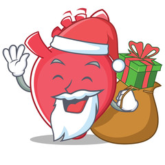 Santa heart character cartoon style