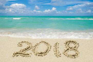 2018 year beach background