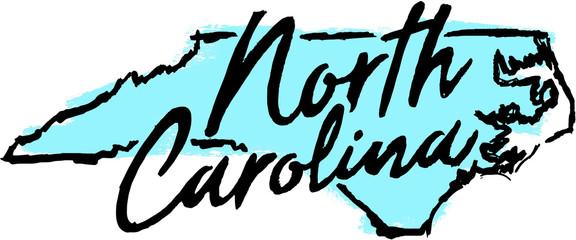 Hand Drawn North Carolina State Design