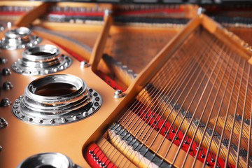 Mechanism of piano, closeup