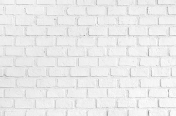 white ordered brick wall texture background.