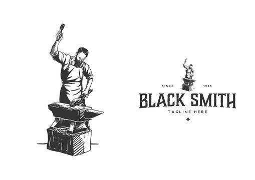 Black Smith Hand Drawn Style