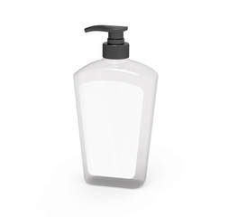 Pump dispenser bottle mockup