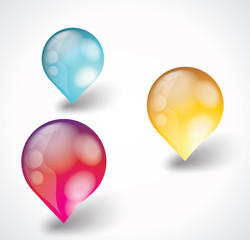 Bright discount bubble tags, number option ballons.
