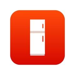 Refrigerator icon digital red