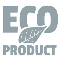 Bio product logo, simple gray style