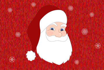 Santa Claus on vivid background