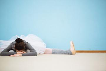 Ballet dancer resting