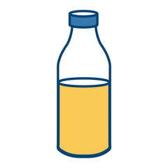 Orange juice in bottle icon vector illustration graphic design