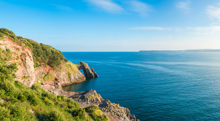 Foto op Canvas Kust View of London Bridge rock formation in Torquay, South Devon, UK