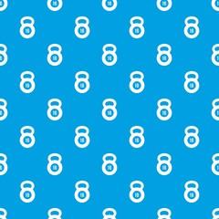 Kettlebell pattern seamless blue