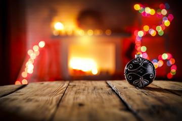 christmas ball and xmas time