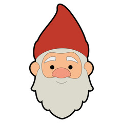 cute gnome head character