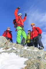 große Freude am Gipfel