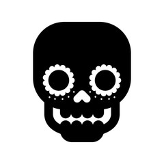 skull the day of the death mexican traditional culture