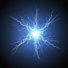 Electric Lightning Starburst Realistic Image