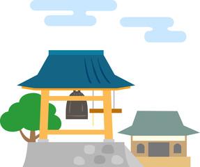日本の寺院の鐘楼