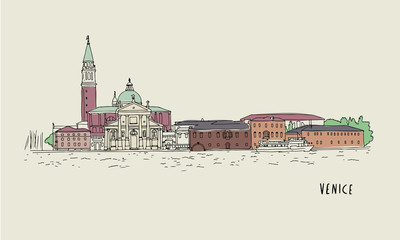 Venice illustration Hand drawn