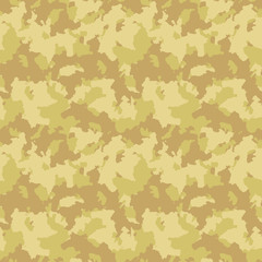 Yellow and beige desert camouflage is a masking seamless pattern that can be used as sand camo print for clothing and background and backdrop or computer wallpaper