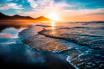 Obraz beach sunset - fototapety do salonu