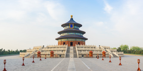 In de dag Beijing Temple of Heaven in Beijing capital city in China
