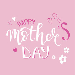 Happy Mother's Day text as Mothers Day badge/tag/icon. Text card/invitation/banner template, lettering typography poster. Vector illustration.