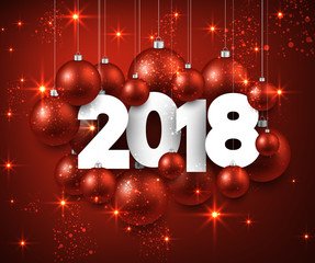 Red 2018 New Year background.