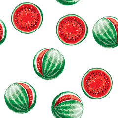 Watermelon pattern. Seamless vector background.