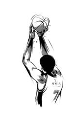 basketball player throwing