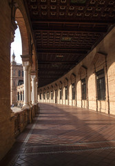 Galería en la Plaza de España / Gallery in the Plaza of Spain. Sevilla