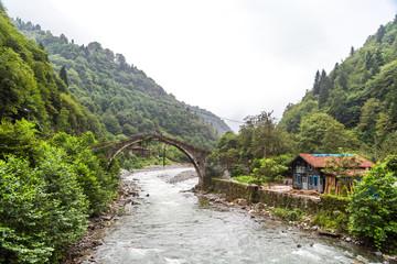 Historical Stone Bridge on Firtina River