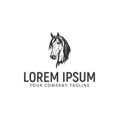 head horse logo. vintage design concept template