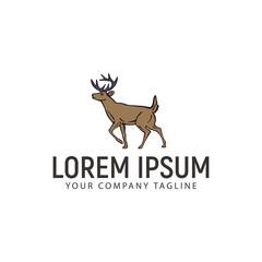 deer logo. hand drawn design concept template