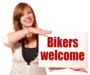 Fototapete - Bikers welcome
