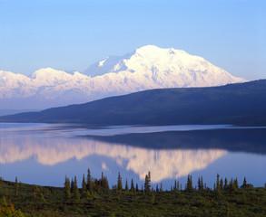 Mount Mckinley Reflecting in Wonder Lake