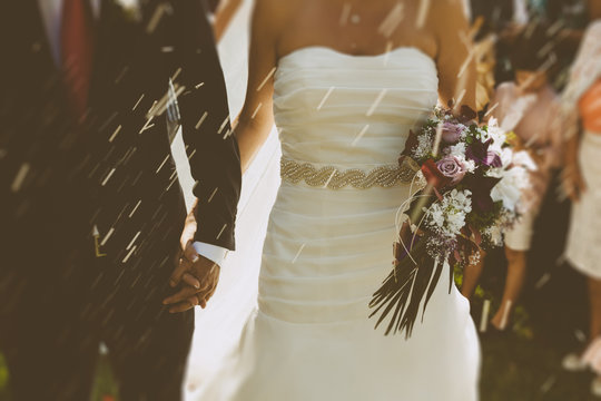 Bride and Groom in a Wedding