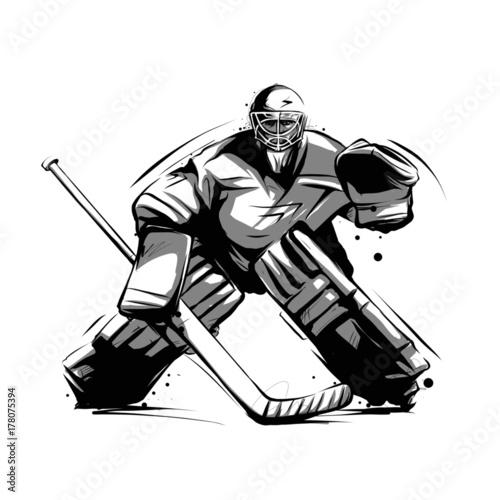 Ice Hockey Player Goalkeeper Stock Image And Royalty Free Vector