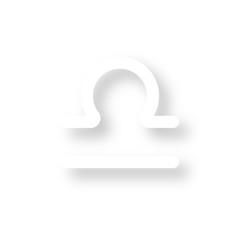 Icon mit Schatten - Waage - Horoskop