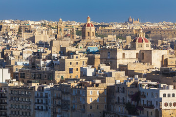 Maltese cities Senglea and Cospicua as seen from Valletta