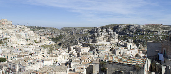 Panorama of the city of Matera, in Italy