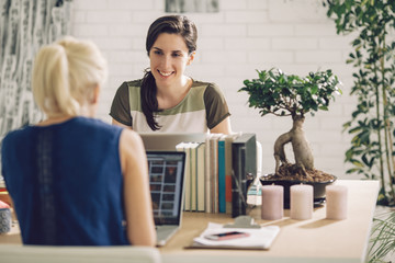 Businesswomen Working Together