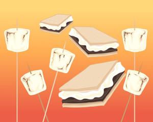 smores and marshmallows