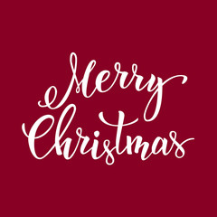 "Original hand lettering ""Merry Cristmas"""