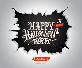 Halloween text. Vector illustration for Halloween card