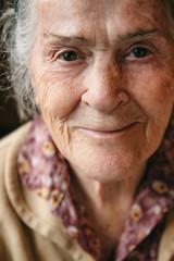 Senior woman portrait. Happy grandmother smiling