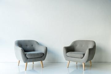 Fototapeta Two gray armchairs obraz