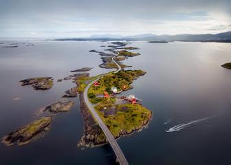 Storseisundet Bridge, Atlantic Ocean Road Norway Wall mural