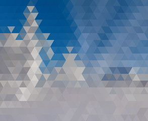 Blue White Polygonal Mosaic Background, Vector illustration.